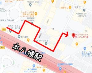 スニーカーアトランダム地図