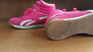 ピンクのハイカット